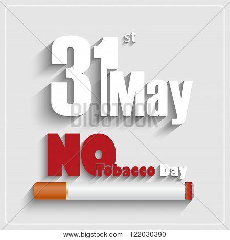 Illustration of May 31st World No tobacco day