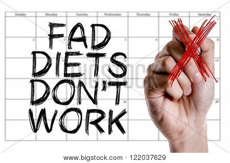 Hand writing the text: Fad Diets Don't Work
