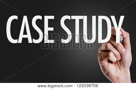 Hand writing the text: Case Study