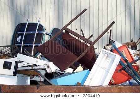 Contents of rubbish skip