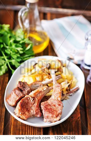 Rack Of Lamb Fried With Aromatic Olive Oil