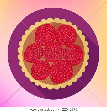 Raspberry cupcake dessert top view