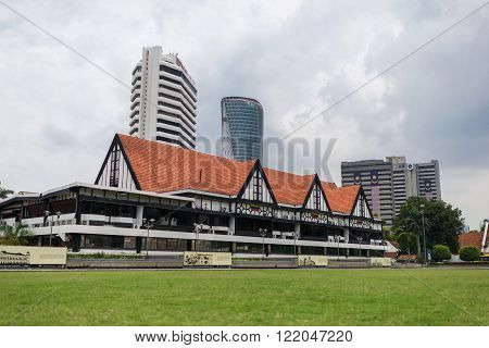 Kuala Lumpur, Malaysia, 10 Aug 2015: Royal Selangor Club: built in 1884 it was the favourite watering hole of the British elite and the centre of colonial society in its heyday.