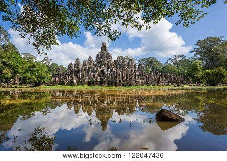 Bayon Temple Reflection