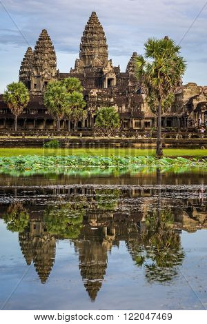 Water Reflection Of Ancient Temple