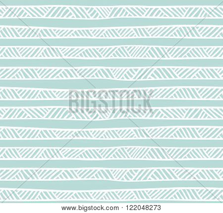 Abstract geometric seamless pattern in pastel colors. Ethnic decorative background.