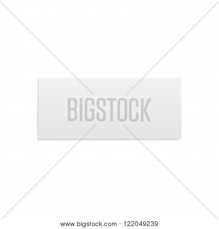 Empty folded realistic Brochure Template. Vector Illustration