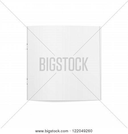 Empty square slim Magazine Template. Vector Illustration