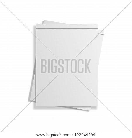 Stack of two empty Notepads. Vector Illustration