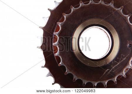 used gear isolated over white background