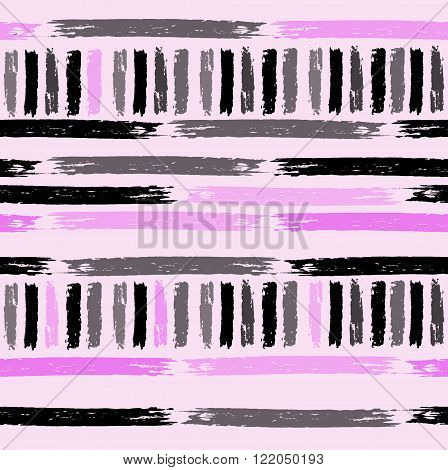 Shaped hand drawn grange seamless vector background
