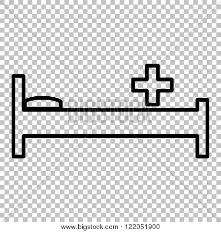 Hospital sign. Line icon