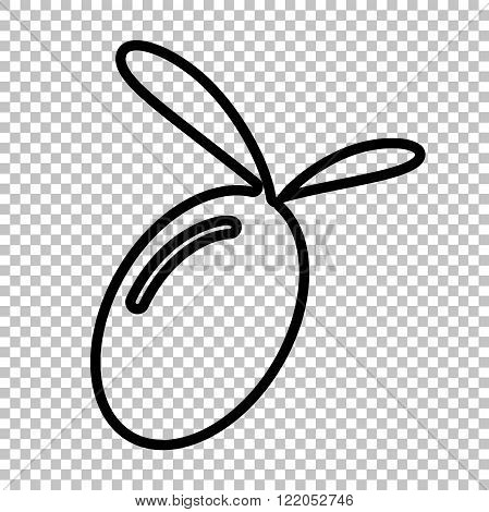 Oliva sign. Line icon