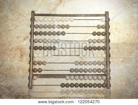 Vintage Picture Of An Old Abacus