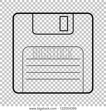 Floppy disk line vector icon