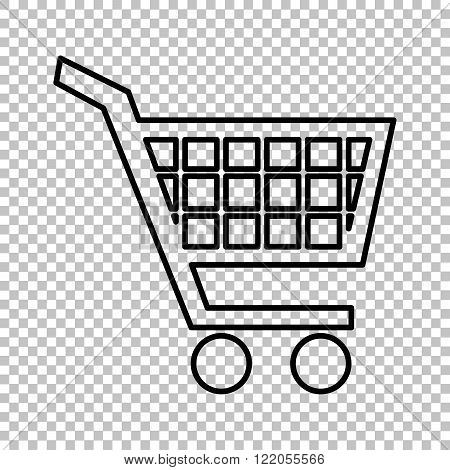 Shopping cart line vector icon