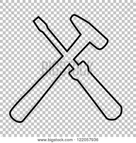Tool line vector icon
