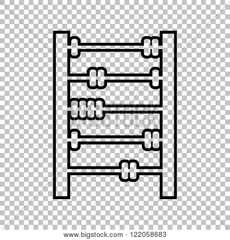 Old retro abacus line vector icon