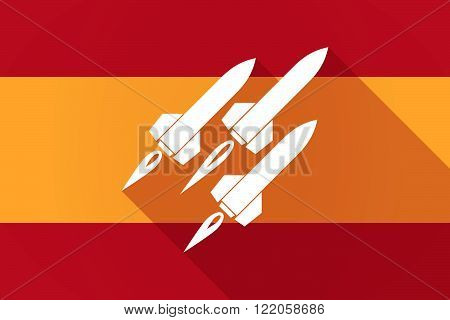 Spain  Long Shadow Flag With Missiles