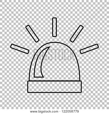 Police single line vector icon