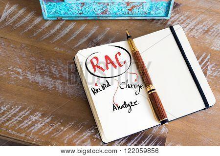 Business Acronym Rac As Record, Analyze, Change