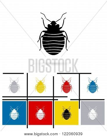 Bug icon. Vector bug pictogram or bug symbol