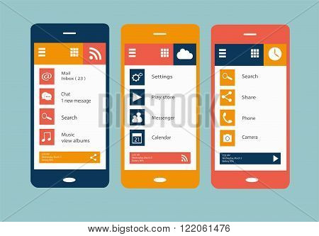 Smartphone icon vector flat media icons background