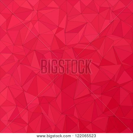 Crimson irregular triangle mosaic vector background design