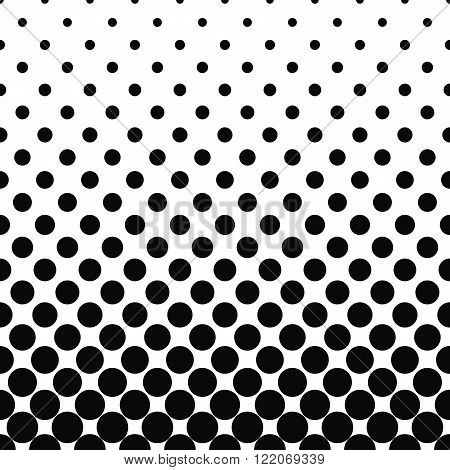 Seamless monochromatic vector circle pattern design background