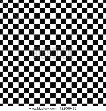 Repeat monochromatic vector checkered square pattern background