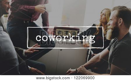 Coworking Colleagues Team Work Office Concept