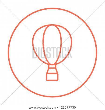 Hot air balloon line icon.