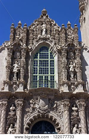 A View of Structure Casa del Prado at Balboa Park in San Diego