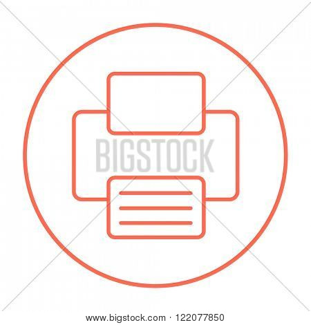 Printer line icon.