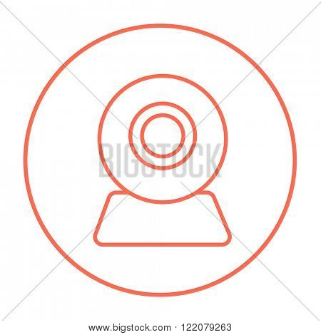 Web camera line icon.