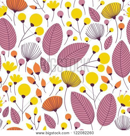 Elegant Seamless Pattern With Yellow Flowers.