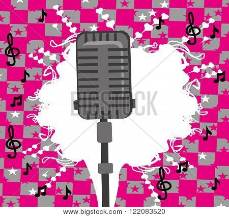 karaoke party design abstract card , vector illustration