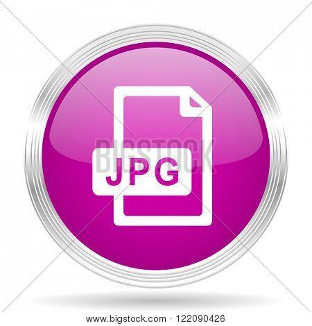 jpg file pink modern web design glossy circle icon