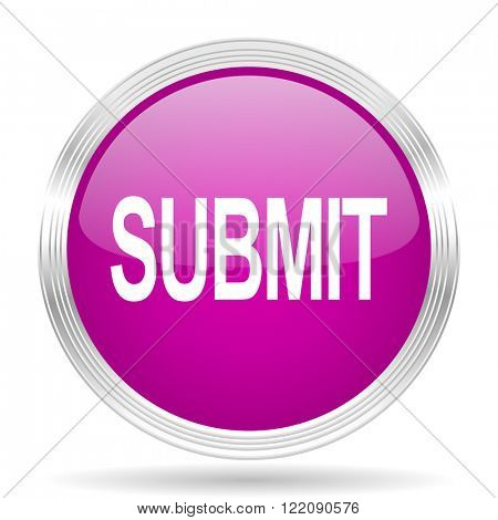 submit pink modern web design glossy circle icon