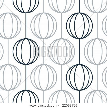 Seamless pattern of ball chains. Can be used as wallpaper, wrapping, invitation cover