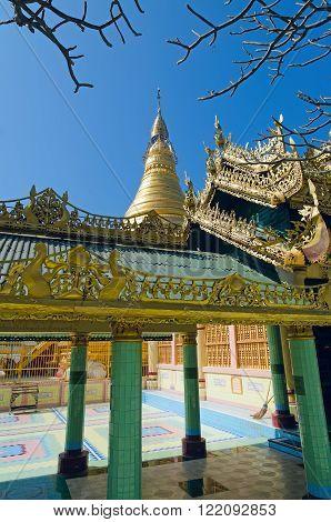 OoHminThoneSel (U-Min Thone-Se) Pagoda. Sagaing. Myanmar (Burma)
