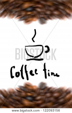 coffee background with roasted coffee beans image