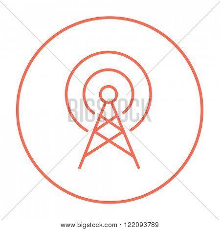 Antenna line icon.