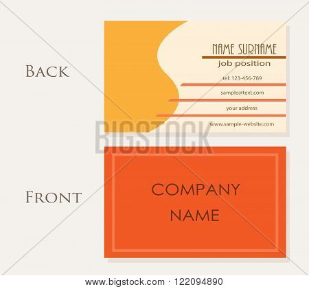 Name Card Template, a vector illustration of an elegant name card, perfect for your business card.