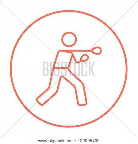 Male boxer line icon.