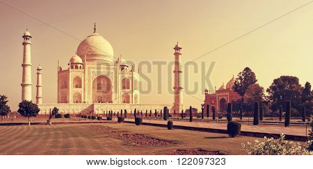 Taj Mahal in Agra Uttar Pradesh India