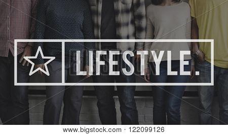 Lifestyle Lifetime Life is Simple Concept