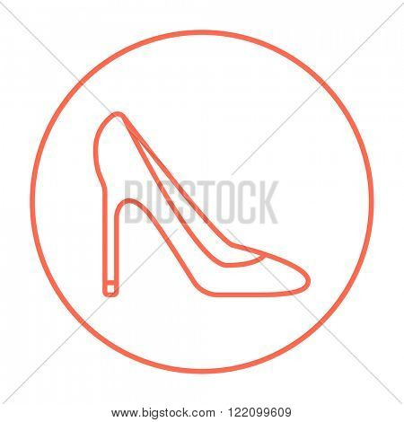 Heel shoe line icon.
