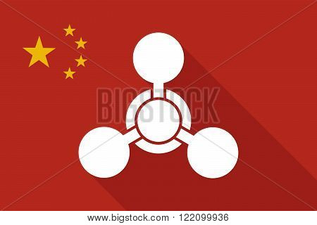 China Long Shadow Flag With A Chemical Weapon Sign