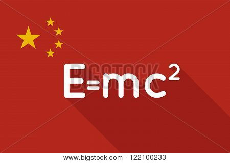 China Long Shadow Flag With The Theory Of Relativity Formula